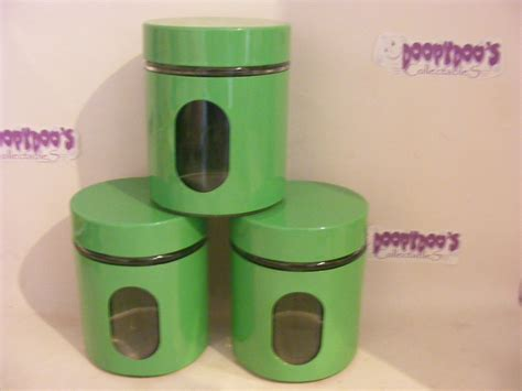 Green Kitchen Canisters by Bn Set Of 3 Green Kitchen Canisters Coffee Tea Sugar