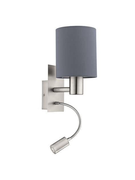applique moderno applique moderno in tessuto grigio con led 1 luce glo