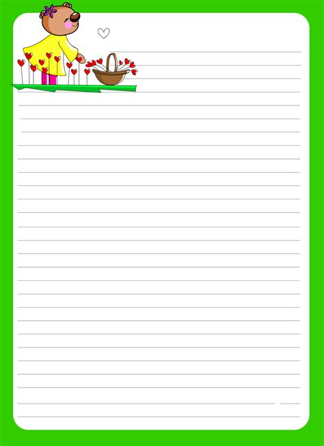 Paper With Children - lined paper for activity shelter