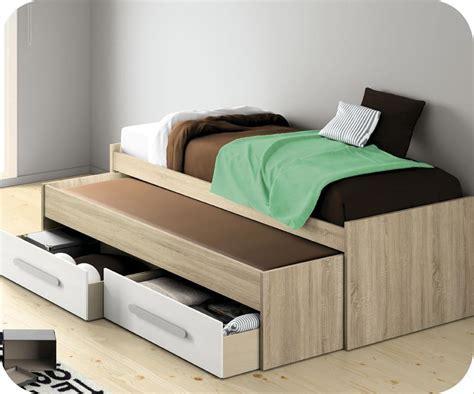cama de 90 con cajones cama nido juvenil 90x200 roble con cajones blancos