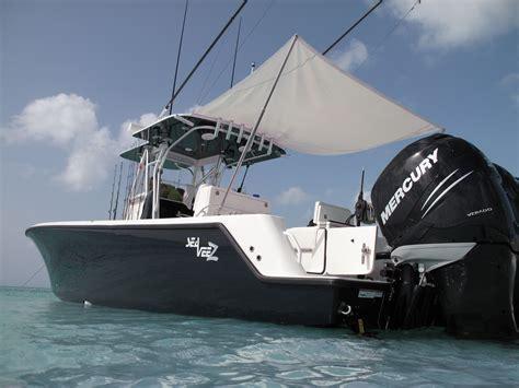 bimini for fishing boat center console 320 details seavee boats