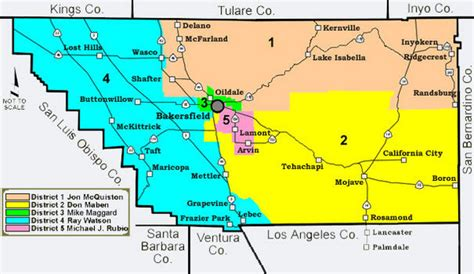 map of bakersfield kern county district supervisor areas map bakersfield ca