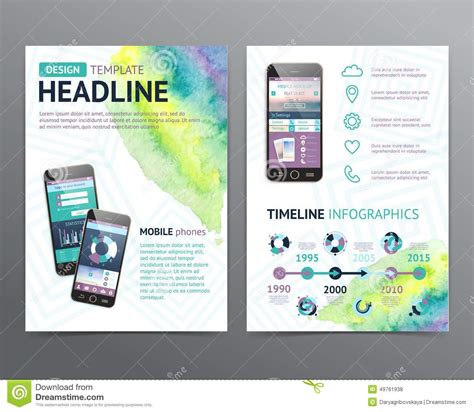 brochure and flyer layout vector 6 abstract vector brochure template flyer layout stock