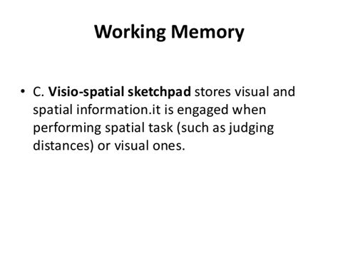 visio spacial visio spatial learning the visio spatial layout of each