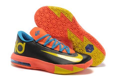 cheap kevin durant shoes 6 vi orange black yellow cheap