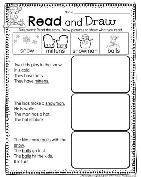 activities for kindergarten reading kindergarten math and literacy worksheets for december