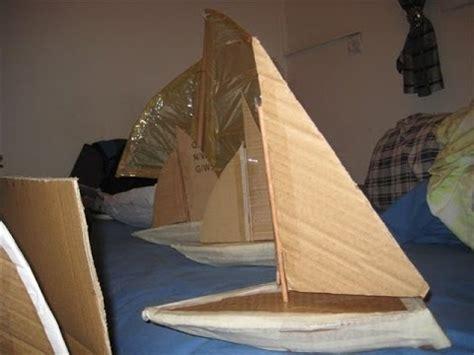 build  cardboard boat youtube