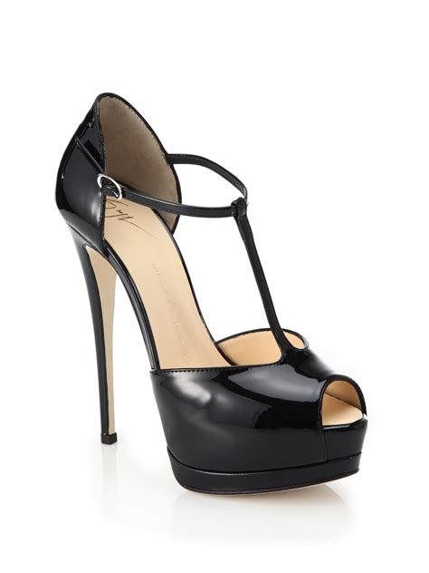 t platform sandals giuseppe zanotti patent leather t platform sandals