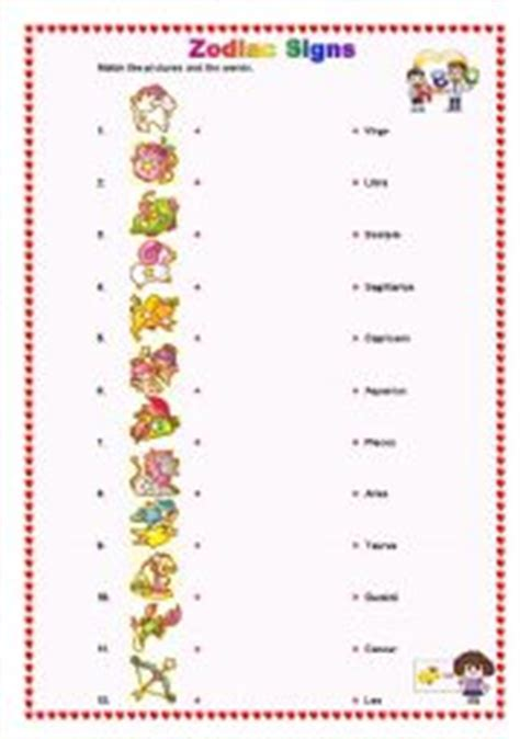 zodiac signs printable worksheets zodiac signs worksheet the best and most comprehensive
