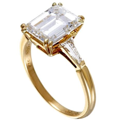 boucheron tapered baguette and emerald cut yellow