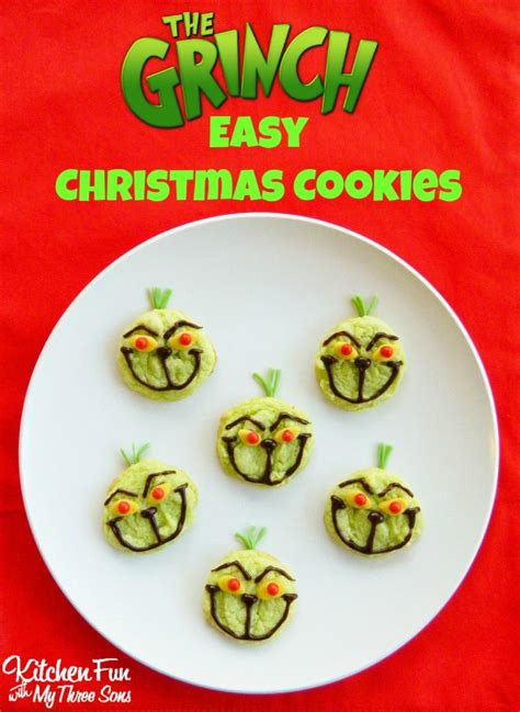grinch easy christmas cookies kitchen fun    sons