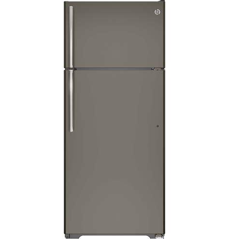 Philadelphia Floor Store Ge Credit by Ge 17 5 Cu Ft Top Freezer Refrigerator Slate Gte18gmhes