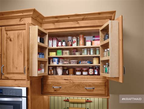 kraftmaid multi storage kitchen wall pantry rustic