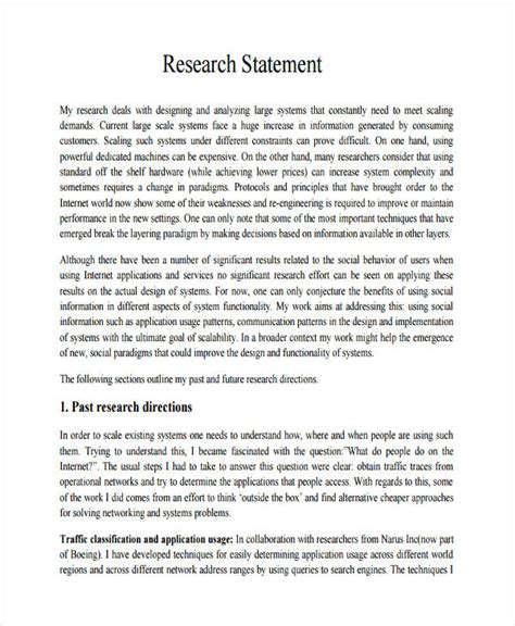 research statement template sle research agenda resume template ideas