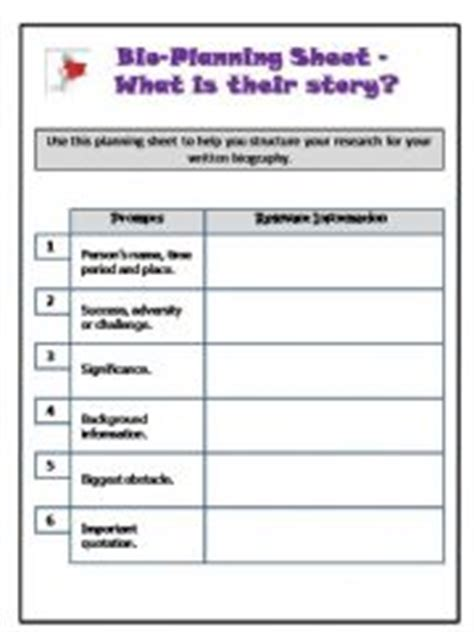 lesson plan on biography writing esl english powerpoints biography planning sheet