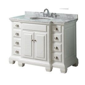 style selections vanover       white single sink bathroom vanity  natural marble