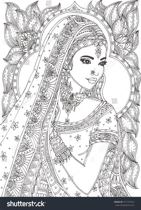 indian bride coloring page meer dan 1000 afbeeldingen over colouring pages for adults
