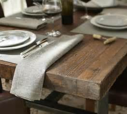 Rustic Wood And Metal Dining Table » Home Design 2017
