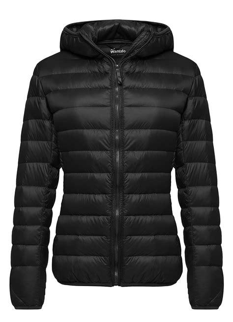 light packable down jacket wantdo women s hooded packable ultra light weight down