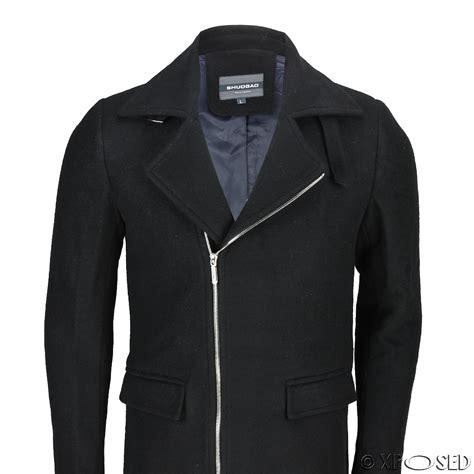 Blazer Casual Black Zipper mens vintage black camel brown slim fit jacket cross zip smart casual coat ebay