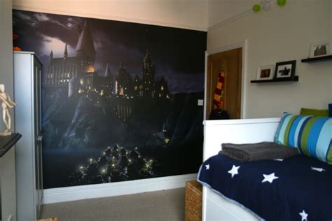 Wall Murals Diy flea s harry potter bedroom makeover who s the mummy