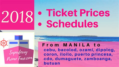 cdo cebu boat schedule 2018 2go travel ticket prices and schedules from manila to