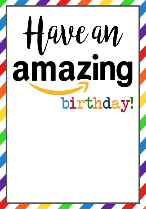 Bulk Amazon Gift Cards - amazon birthday gift card card design ideas