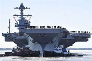 Gerald Ford Carrier Wordlesstech Supercarrier Uss Gerald R Ford Underway