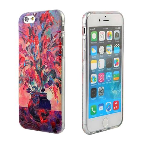 Soft Cover For Iphone 6s for apple iphone 6 6s canvas textured print tpu soft cover ebay