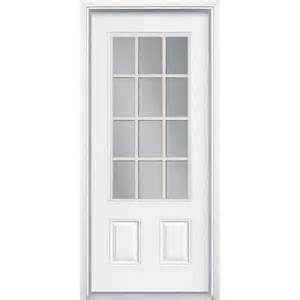 masonite premium 12 lite primed steel prehung front door
