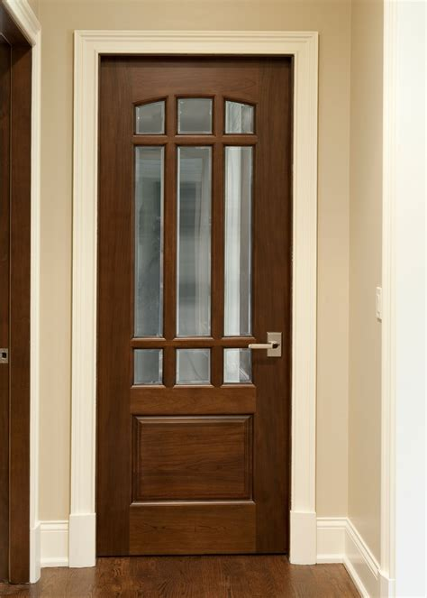 Interior Hardwood Doors Interior Door Custom Single Solid Wood With Walnut Finish Classic Model Dbi 701g Classic