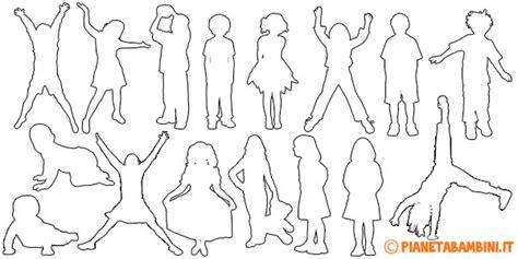 sagome lettere da ritagliare bambino di spalle disegno design casa creativa e mobili
