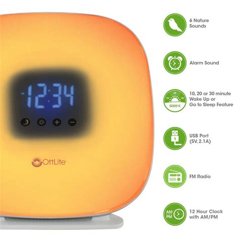 ottlite up your way light alarm clock tools for wellness