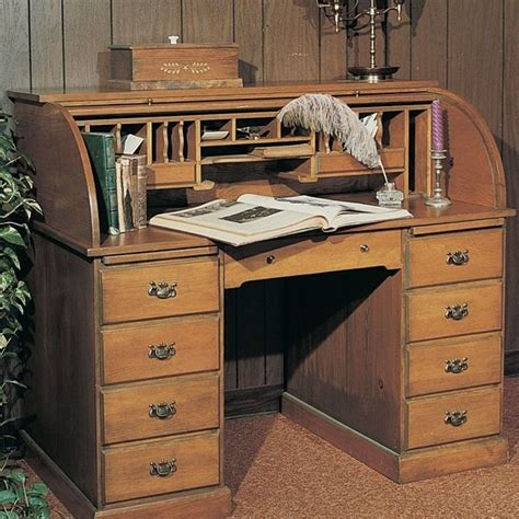 roll top desk plans woodworking project paper plan to build roll top desk