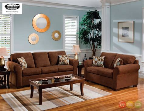 chocolate living room set chocolate brown microfiber sofa and love seat living room