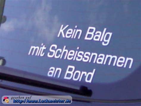 Aufkleber Duden by Kein Balg Mit Schei 223 Namen An Bord