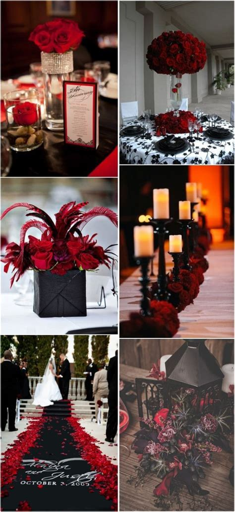 18 Black and Red Wedding Color Ideas