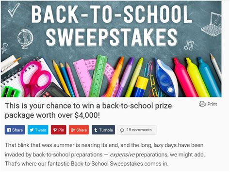 She Knows Sweepstakes - the sheknows back to school sweepstakes