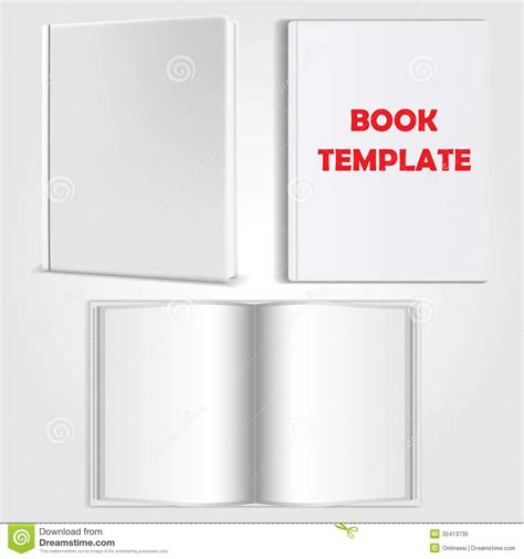 book template vector stock vector image of object blank