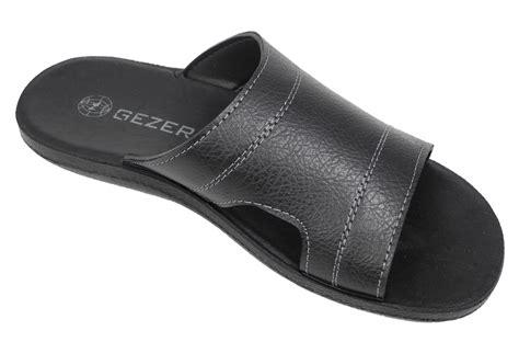 leather mule sandals mens gezer leather look mule style jesus sandals mules