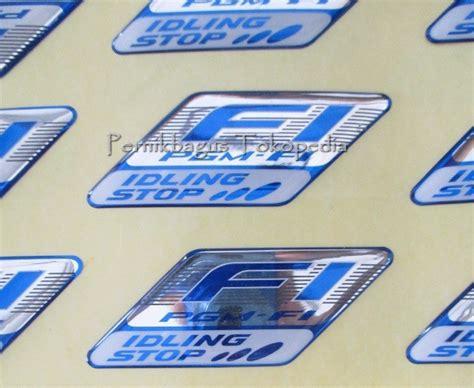 Logo Fi Idling Stop jual stiker emblem pgm fi fi iss idling stop logo 100