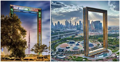 Small Cool by Quot World S Largest Picture Frame Quot Opens In Dubai Archdaily