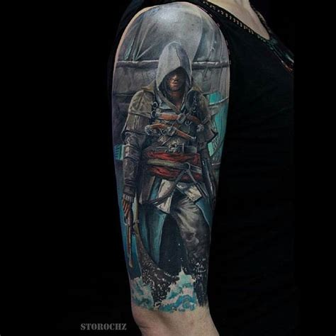 assassin tattoo designs top 25 best assassins creed ideas on