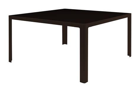 tisch 140x140 table metisse verre 140 x 140 cm plateau noir