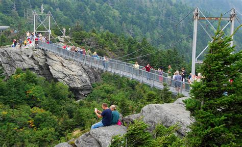 grandfather mountain mile high swinging bridge grandfather mountain the high country