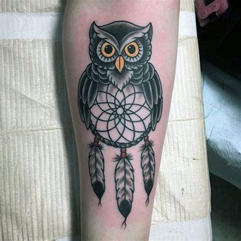 owl dreamcatcher tattoo 100 dreamcatcher tattoos for design ideas