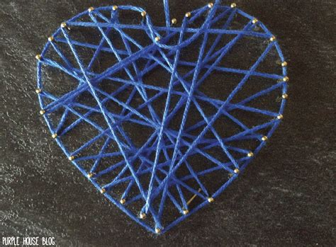 String Pictures - diy handheld string art made from a flooring sle