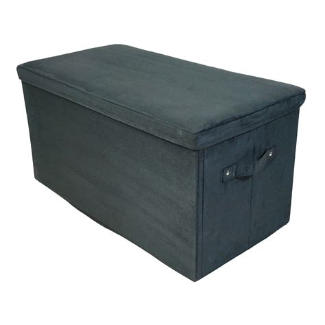 storage bench cover seat pad folding storage bench micro suede cover ebay