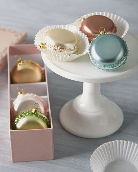 katherine s collection six french macaron glass christmas
