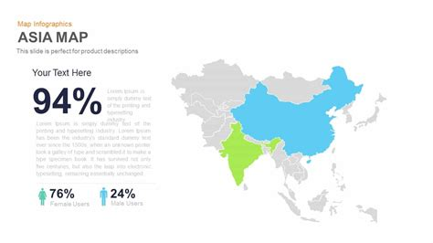 Asia Map Powerpoint And Keynote Template Slidebazaar Powerpoint Map Template